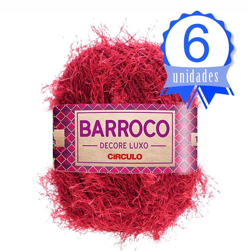 Kit Barbante Barroco Decore Luxo Cor 0330 Marsala - Circulo C/ 6 un.