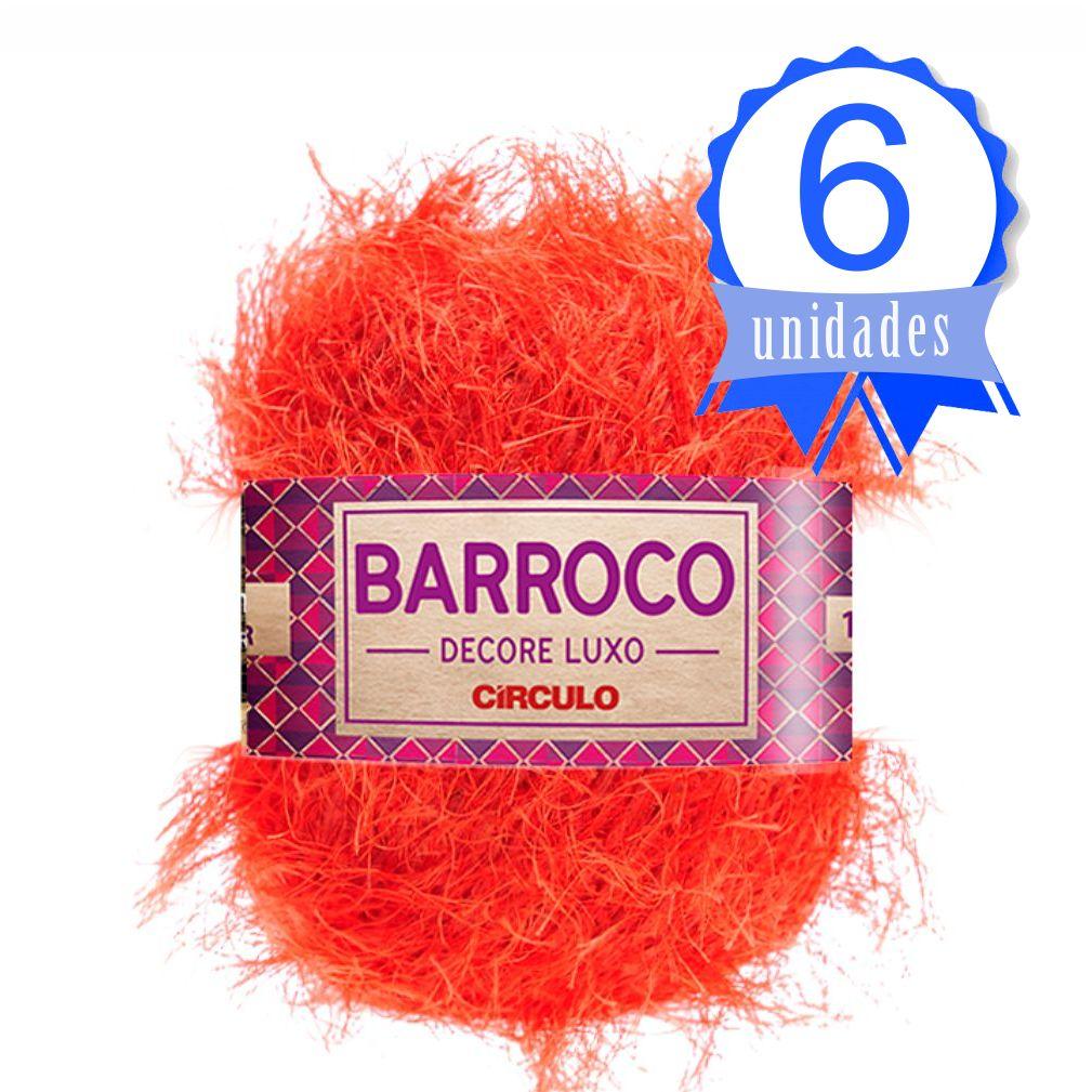 Kit Barbante Barroco Decore Luxo Cor 441 Tangerina c/ 6 Un.