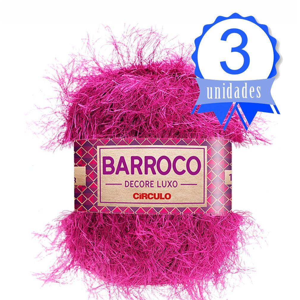 Kit Barbante Barroco Decore Luxo Cor 615 Violeta c/ 3 Un.