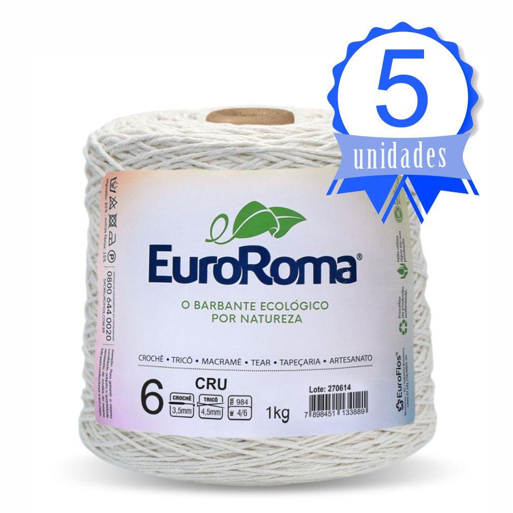 Kit Barbante Euroroma Crú 1kg N06 c/ 5 un.