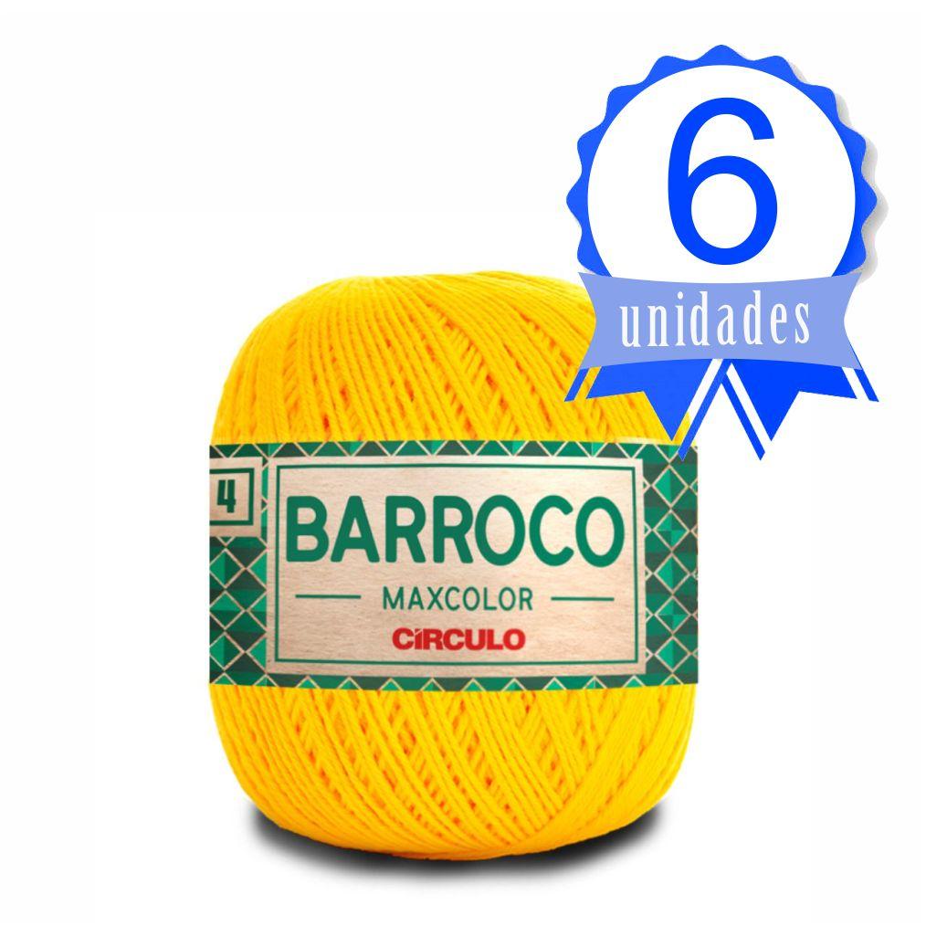 Kit Barroco Maxcolor N04 200g Cor 1289 Amarelo - Circulo c/ 6un.