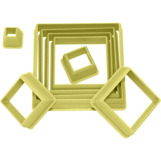 Kit Cortador de Biscuit Quadrado com 8 peças -  Blue Star