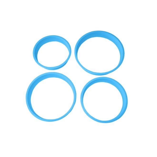 Kit Cortador de Biscuit Redondo M com 4 peças -  Blue Star