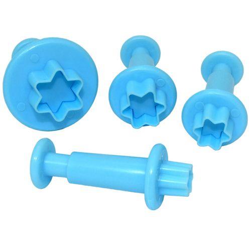 Kit Ejetores para Biscuit Estrela com 4 peças - Blue Star