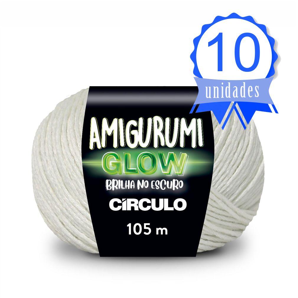 Kit Fio Amigurumi Glow 105m 50g 10 unidades
