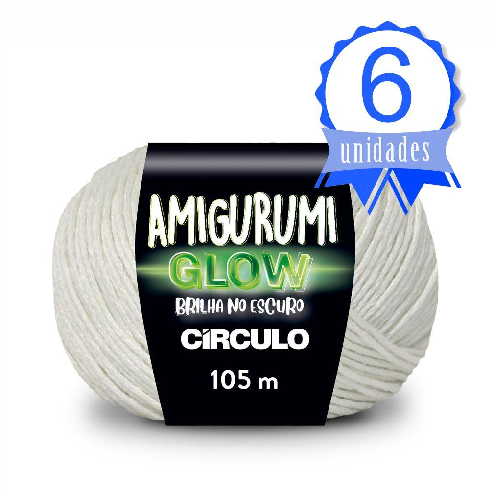 Kit Fio Amigurumi Glow 105m 50g 6 unidades
