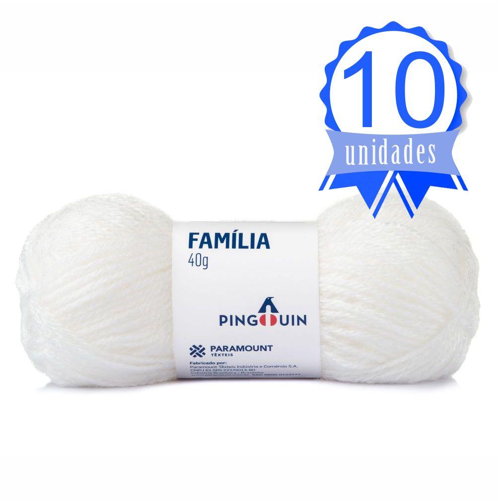 Kit Lã Família 40g Cor 0002 Branco - Pingouin C/ 10 un.