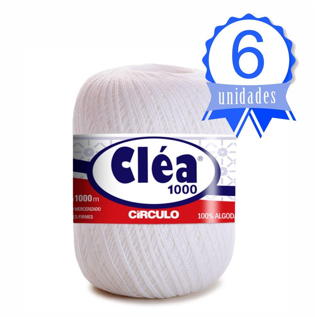 Kit Linha Cléa 1000mt Cor Branco Circulo c/ 6 unidades