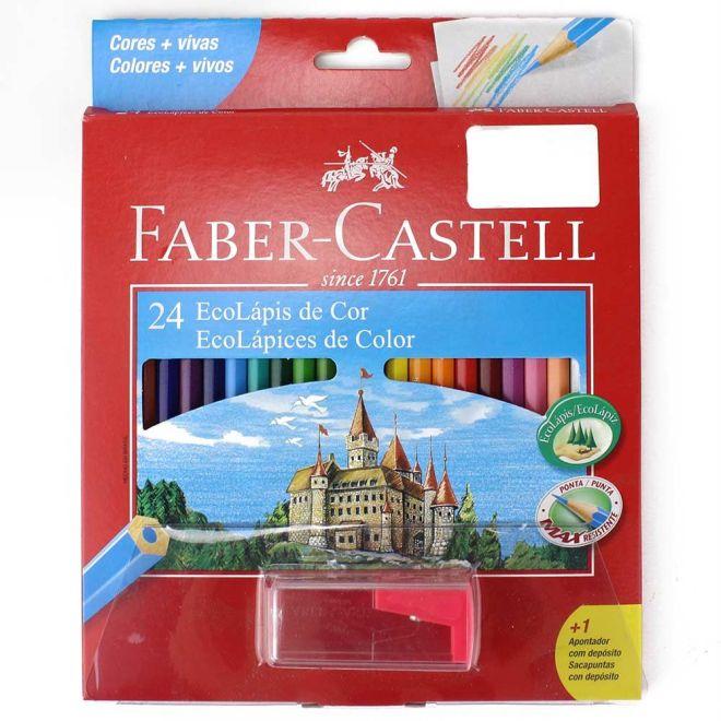 Lápis de Cor Sextavado 24 Cores - Faber-Castell