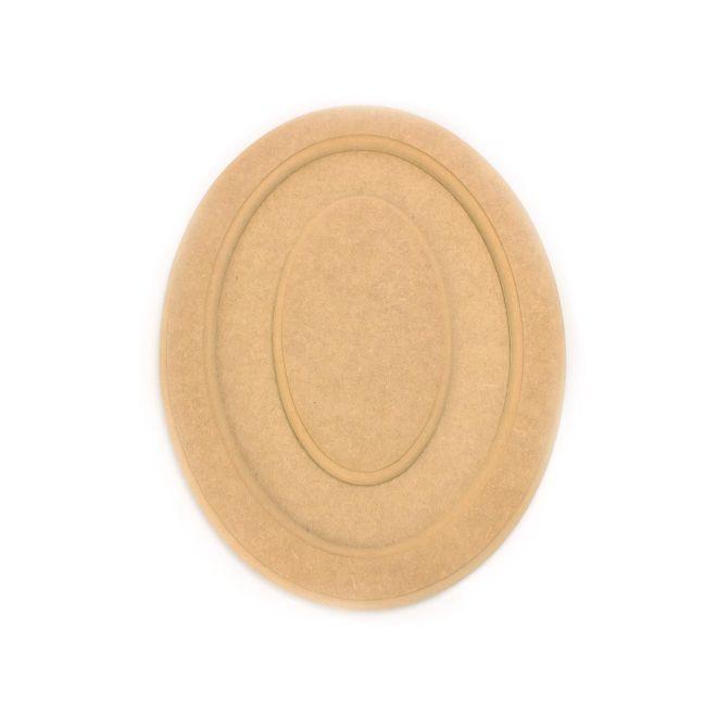 MDF Quadro Oval C/ Miolo P 30 x 23,5 x 1,5cm