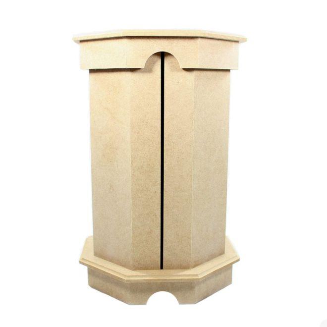 Porta Papel Toalha em MDF Torre 19x19x28cm