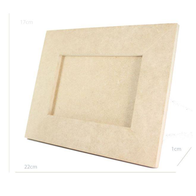 Porta Retrato em MDF Cru para fotos de 10 x 15cm
