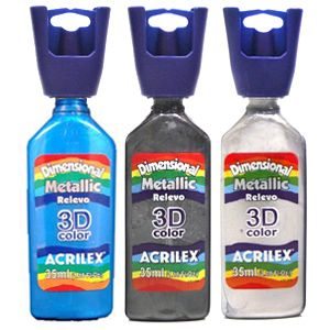 Tinta Dimensional Metallic 35 ml - Acrilex