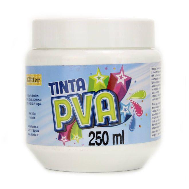 Tinta PVA Branca 250ml - Glitter