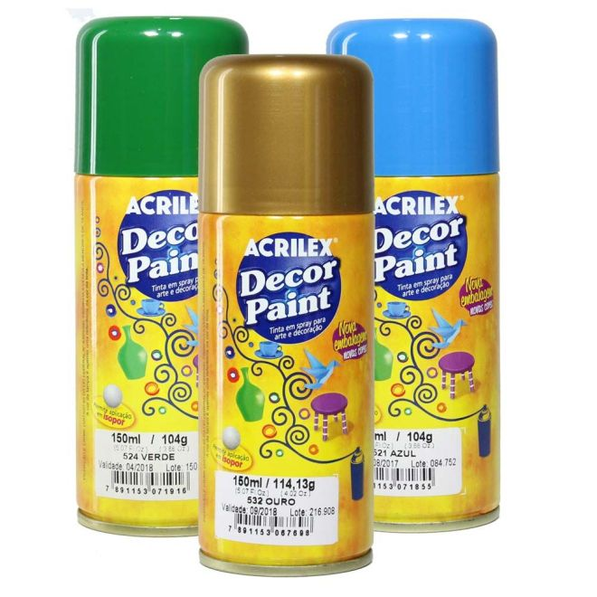 Tinta Spray Decor Paint Acrilex 150 ml