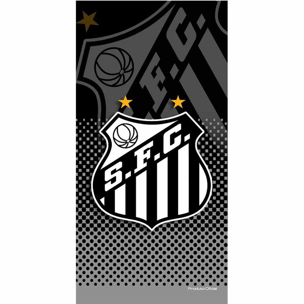 Toalha de Banho Futebol Estampada Santos Licenciado - Buettner