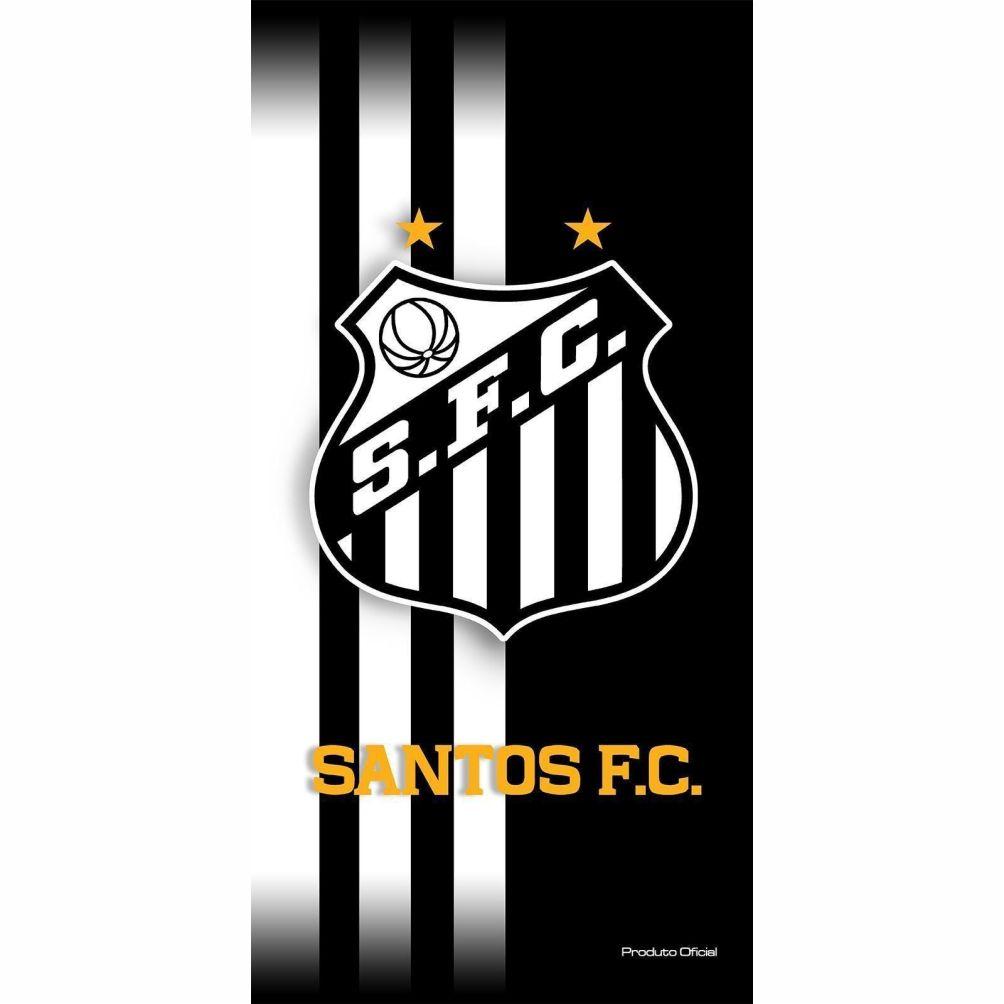 Toalha de Banho Futebol Estampada Santos mod 2 Licenciado - Buettner