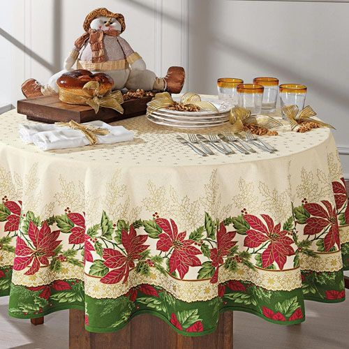 Toalha de Mesa Natal Boas Novas 140 x 210cm - Karsten