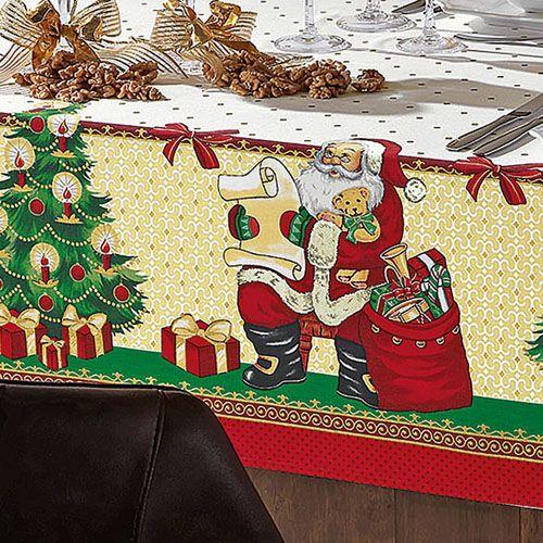 Toalha de Mesa Natal Santa Claus 78 x78 cm - Karsten