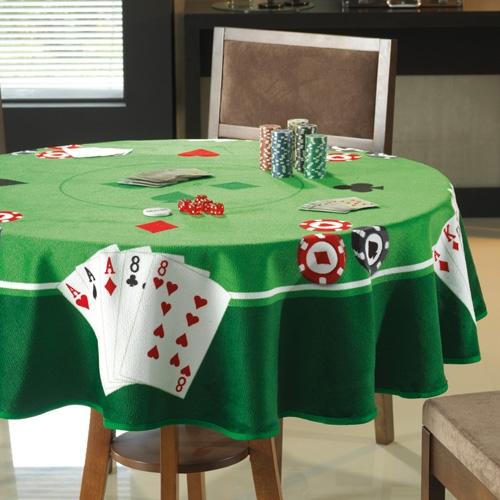 Toalha de Mesa Velour Estampada para Jogos Poker 160 cm - Dohler