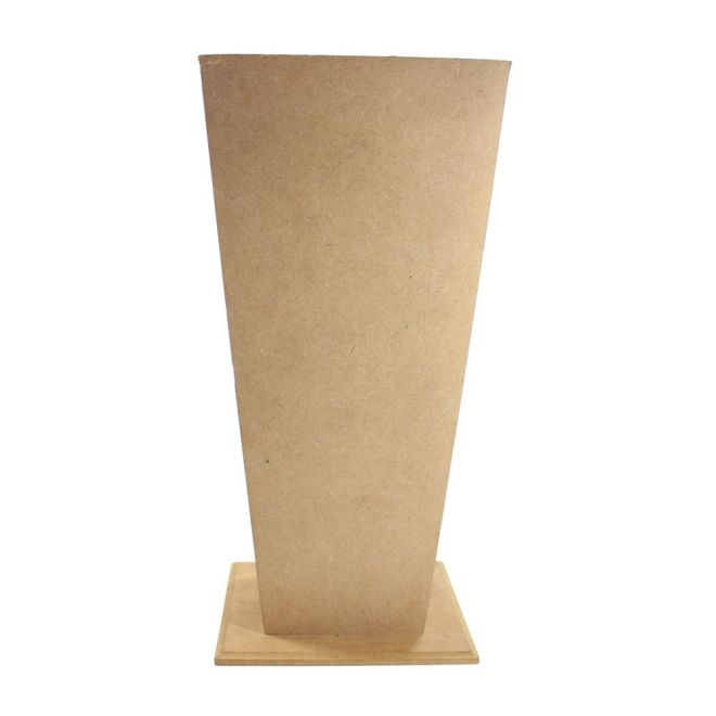 Vaso Grande em MDF 17x17x35cm