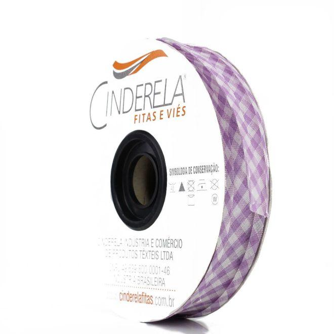 Viés Xadrez Cinderela 25mm c/ 20mts
