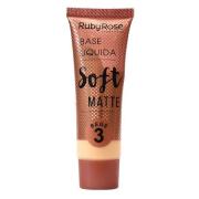 Ruby Rose Base Líquida Soft Matte - Bege 3