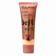 Ruby Rose Base Líquida Soft Matte - Bege 4