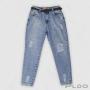 Calça Mom Jeans com Rasgos  Specific Feminina