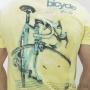 Camiseta de Manga Curta Bike Life Masculino Amarelo