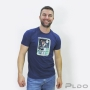 Camiseta Over Scooby Doo e Salsicha Masculino Azul Marinho
