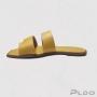 Chinelo Slide com Tiras Via Uno Feminino Amarelo