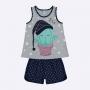 Pijama que Brilha no Escuro Kyly Infantil Feminino