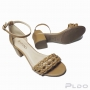Sandália com Salto Bloco Via Uno Feminina