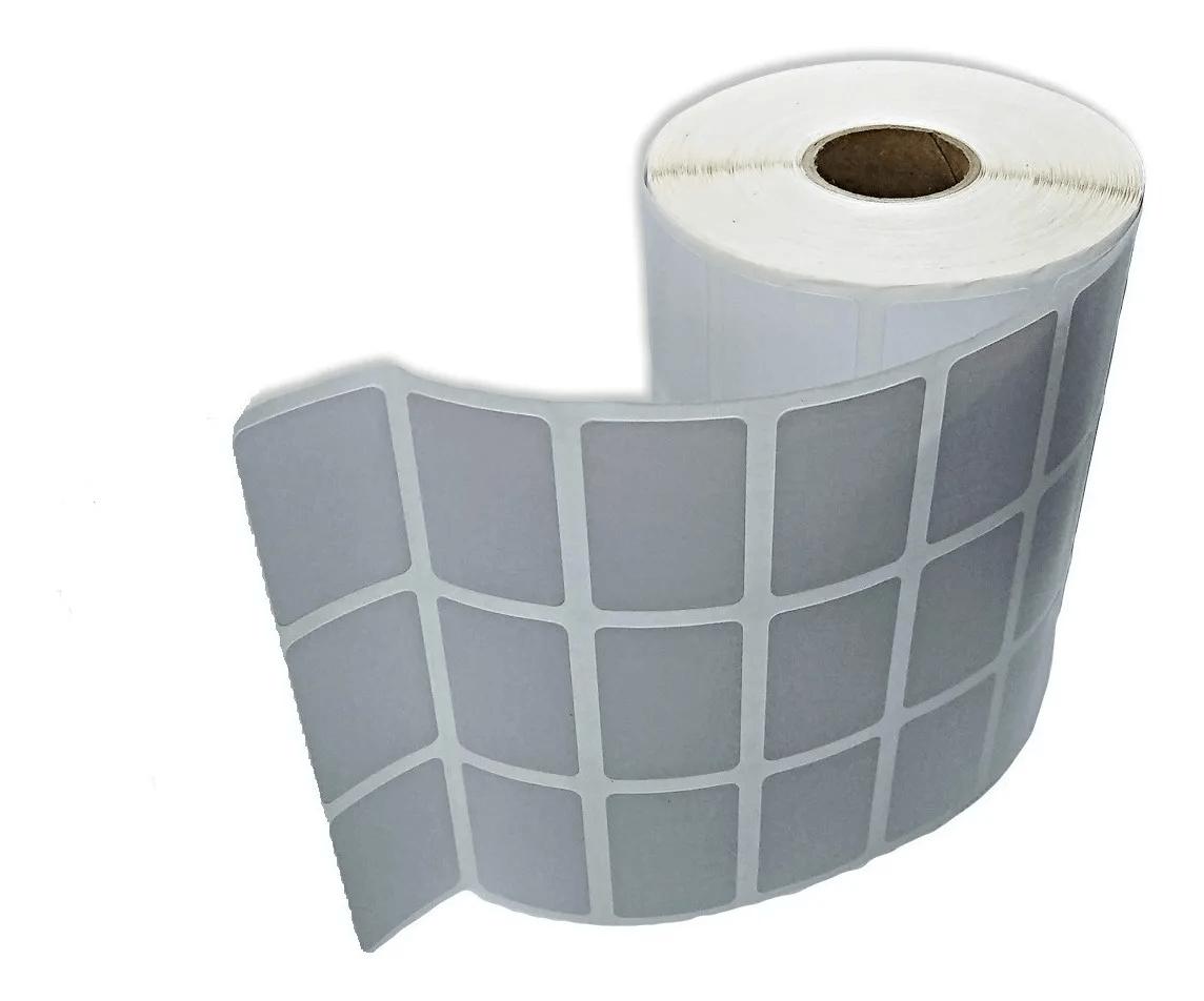 Etiqueta Adesiva Couchê 33x22mm Branca com 3 Colunas