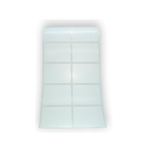 Etiqueta Adesiva Couchê 50x50mm Branca com 2 Colunas