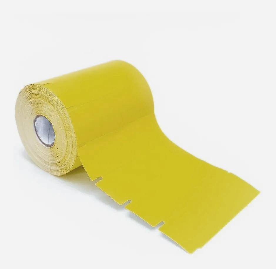 Etiqueta para Gôndola Não Adesiva 80x35mm Amarela