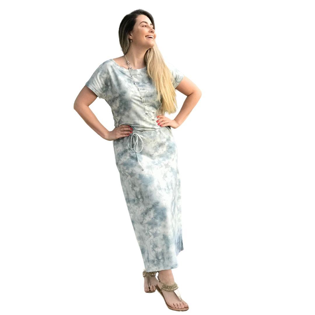 Vestido Ingeborg Moletinho Longo Tie Dye