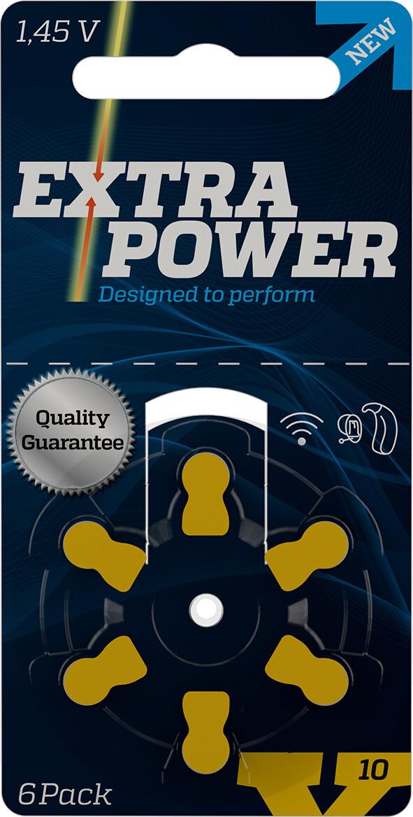 Bateria Extra Power 10 para aparelhos auditivos