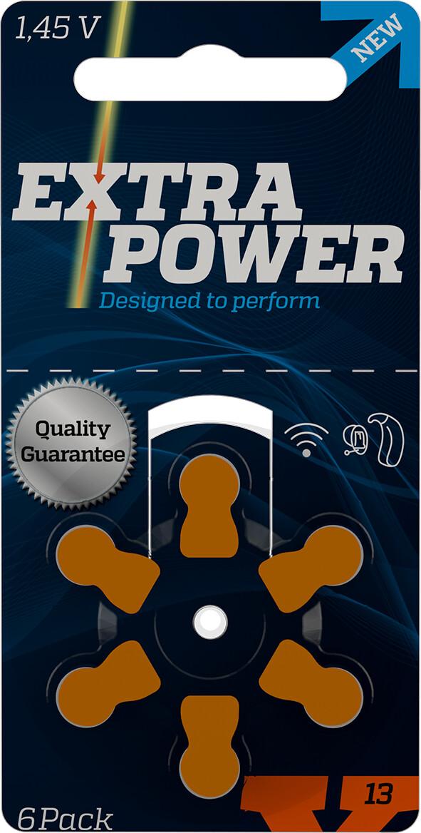 Bateria Extra Power 13 para aparelhos auditivos