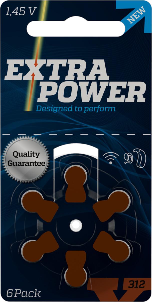 Bateria Extra Power 312 para aparelho auditivo