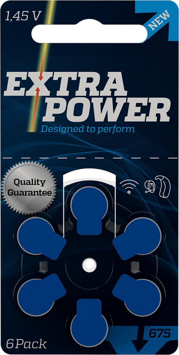 Bateria Extra Power 675 para aparelhos auditivos