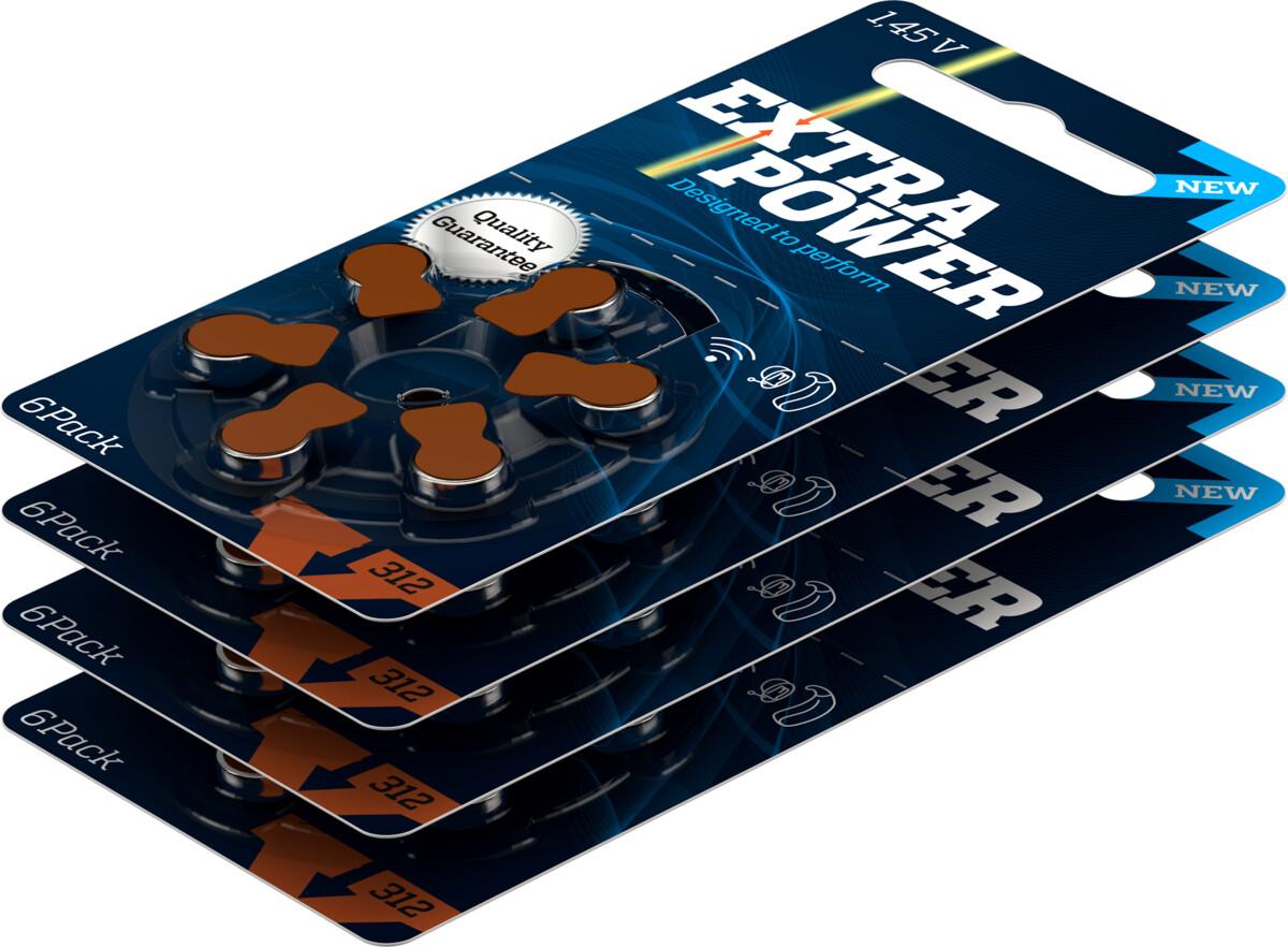 Caixa de bateria Extra Power 312 (60 unidades)