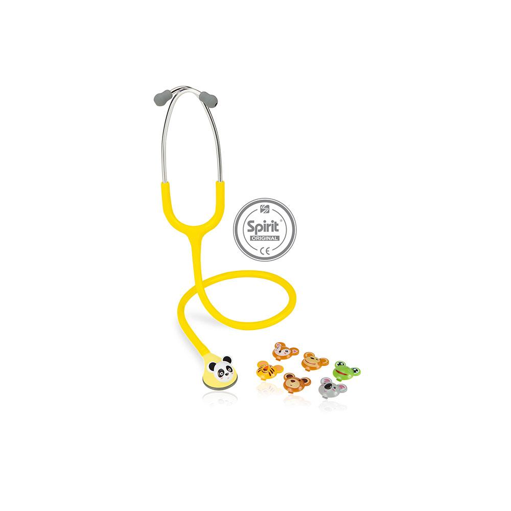 Estetoscópio Spirit® Master Lite Pediátrico -  Amarelo