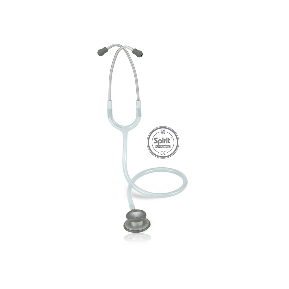 Estetoscópio Spirit® Pro-Lite Adulto - Cinza Transparente