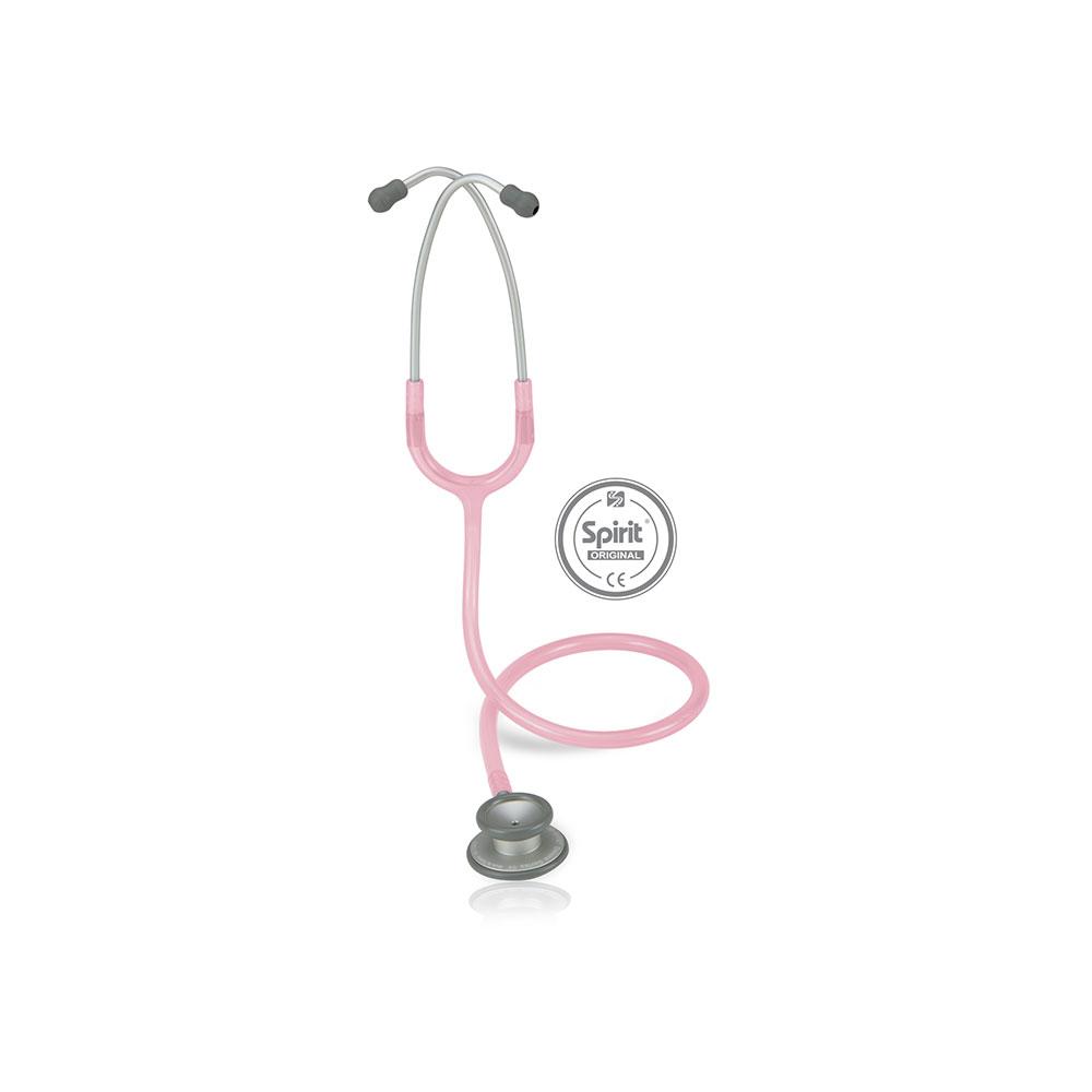 Estetoscópio Spirit® Pro-Lite Adulto - Rosa Transparente