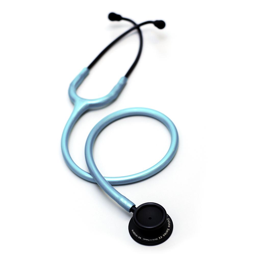 Estetoscópio Spirit® Professional Adulto - Black Edition Azul Perolizado