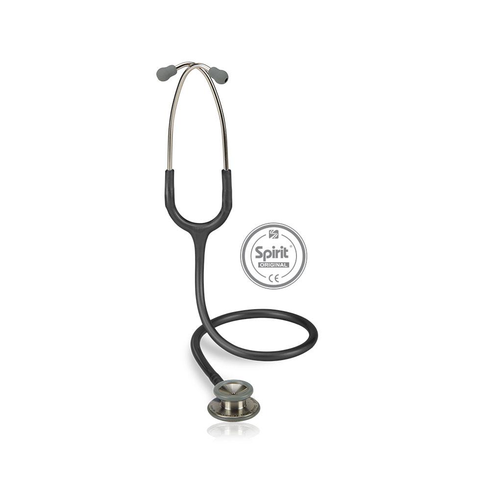 Estetoscópio Spirit® Professional Adulto - Cinza Escuro Perolizado