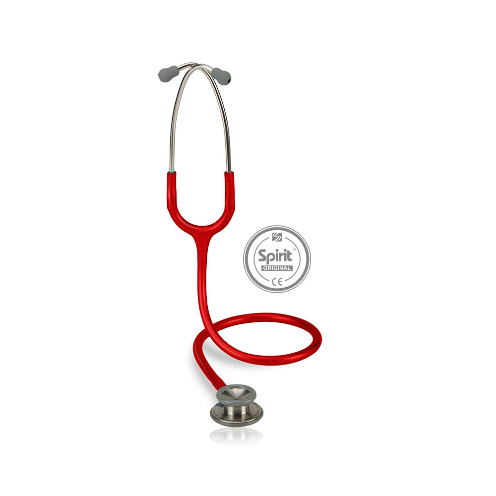Estetoscópio Spirit® Professional Adulto - Vermelho