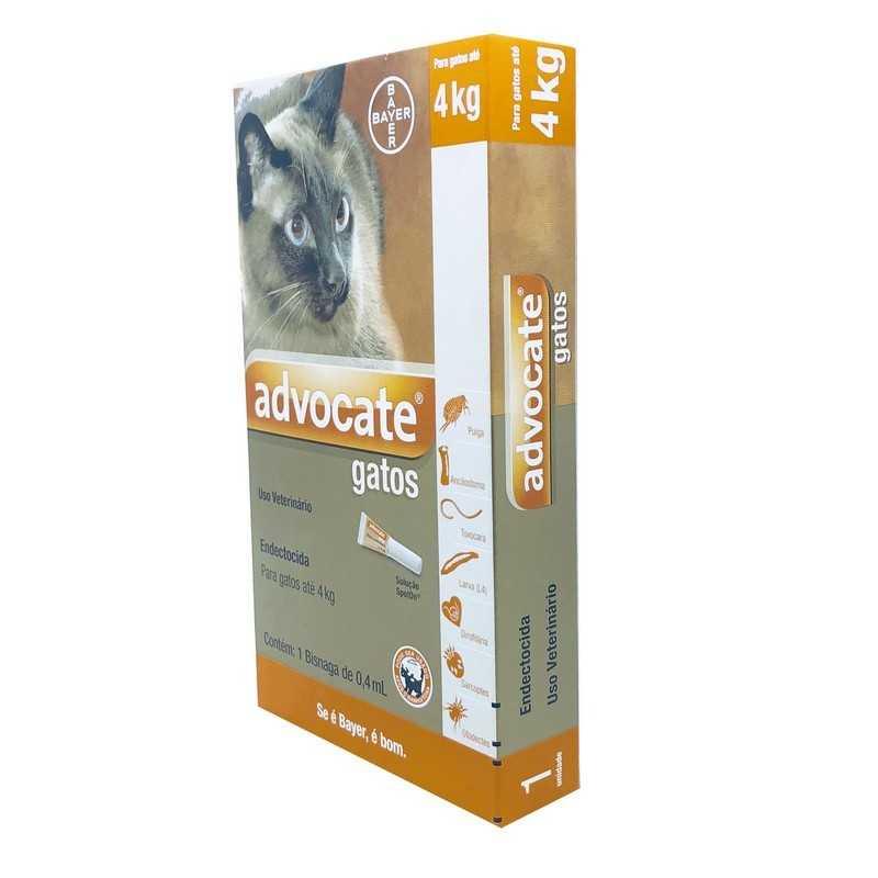 Advocate Gatos Antipulgas até 4kg